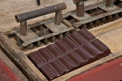 Molde para hacer tabletas de chocolate en Astorga