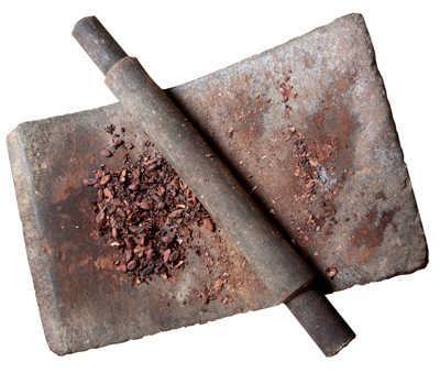 Piedra para moler cacao y hacer el chocolate en Astorga.